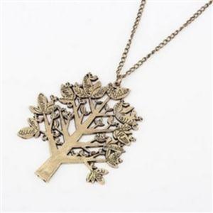Necklace bronze tree of life